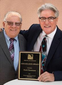 Pastor Bob Rieth with recipient of the Ambassador Award Mark Fincannon.