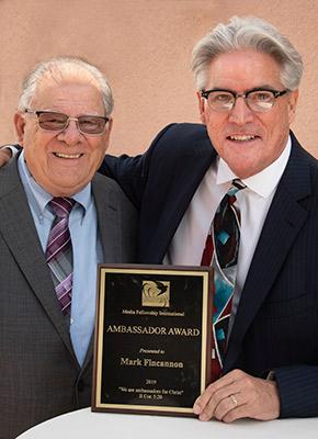 MFI Praise 2019_720 - Pastor Bob Rieth and Mark Fincannon casting director and recipient of the Ambassador Award